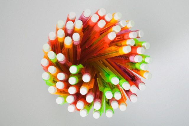 Top view of mechanical pencils