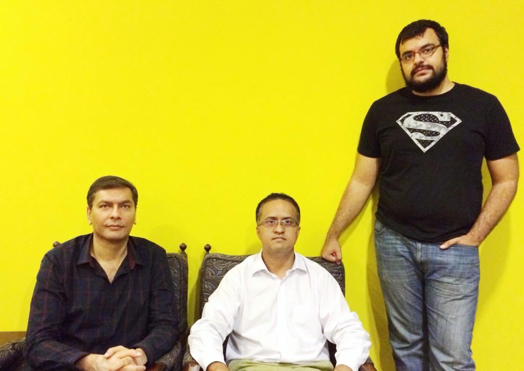 Left to Right - (CEO) Muqtaza (COO) Umar (CTO) Nasrullah
